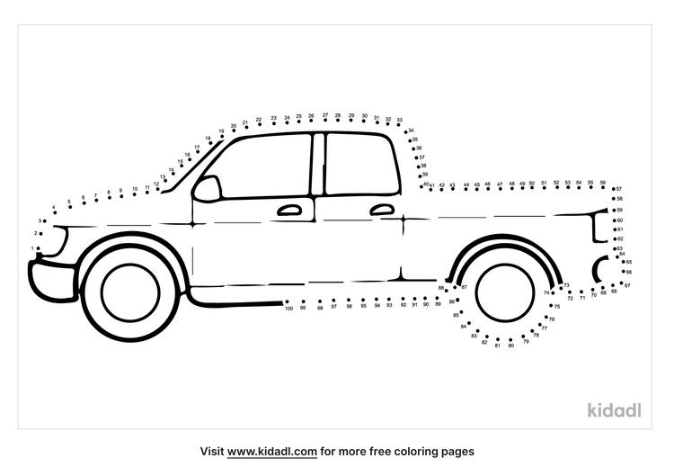 hard-pick-up-truck-dot-to-dot