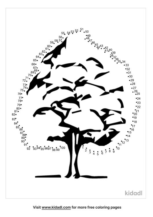 hard-plain-tree-dot-to-dot