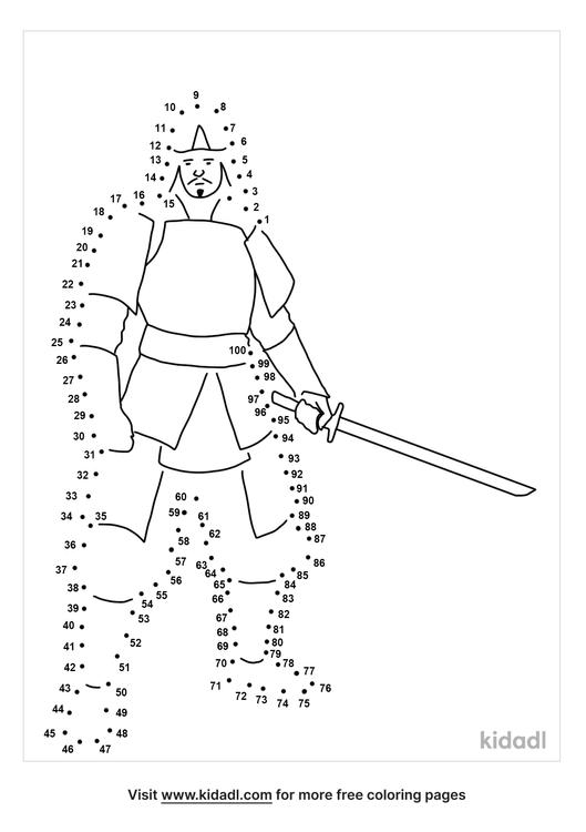hard-samurai-dot-to-dot