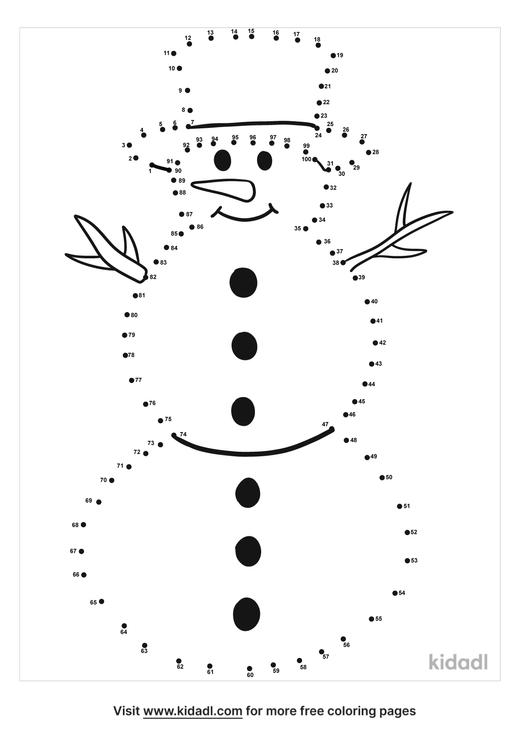 hard-snowman-dot-to-dot
