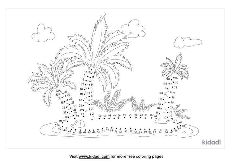 hard-tropical-island-dot-to-dot