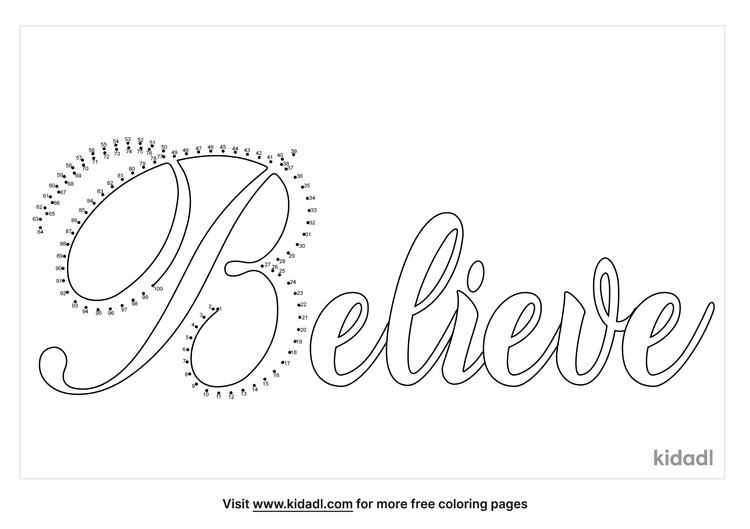 hard-word-believe-dot-to-dot