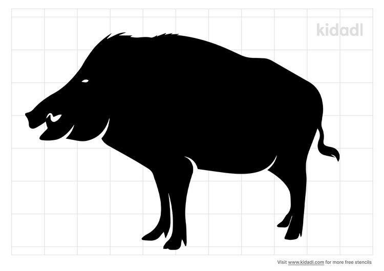 hawaiian-boar-stencil