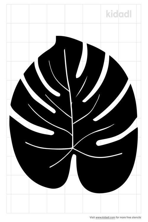 hawaiian-palm-leaves-stencil