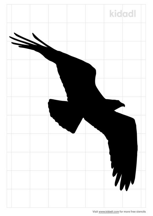 hawk-in-flight-stencil