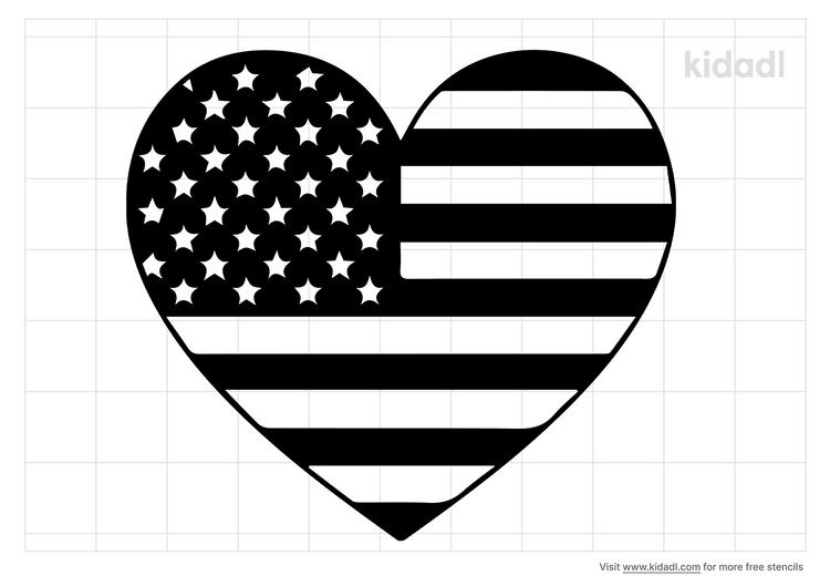 heart-american-flag-stencil