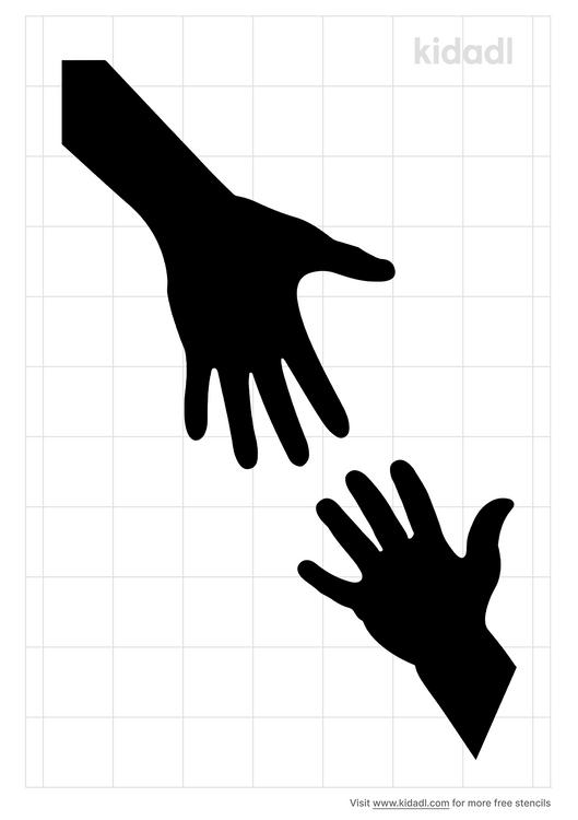 helping-hands-stencil