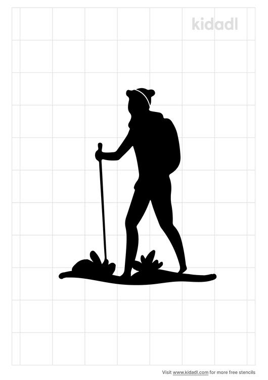 hiking-stencil