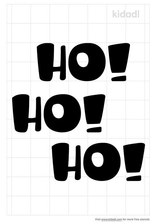ho-ho-ho-stencil