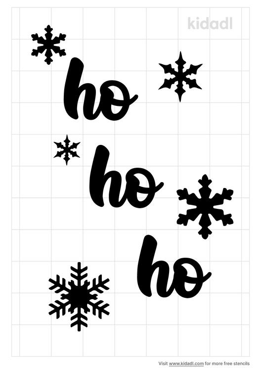 hohoho-stencil