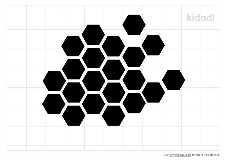 honeycomb-stencil