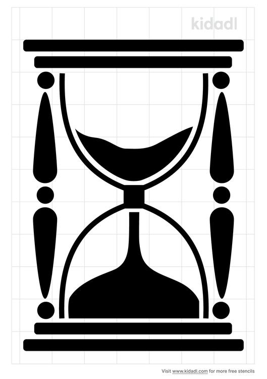 hourglass-stencil