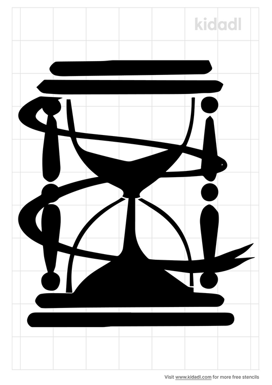 hourglass-with-ribbon-stencil