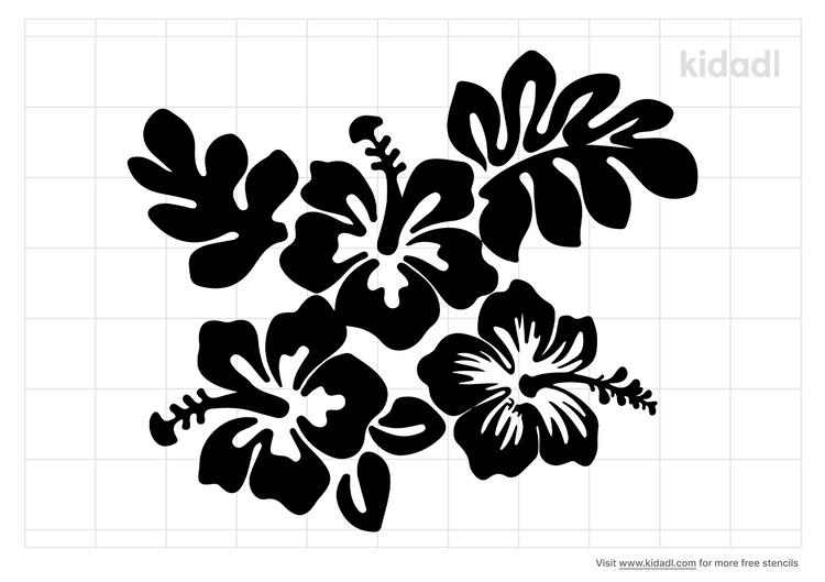 hula-flower-stencil