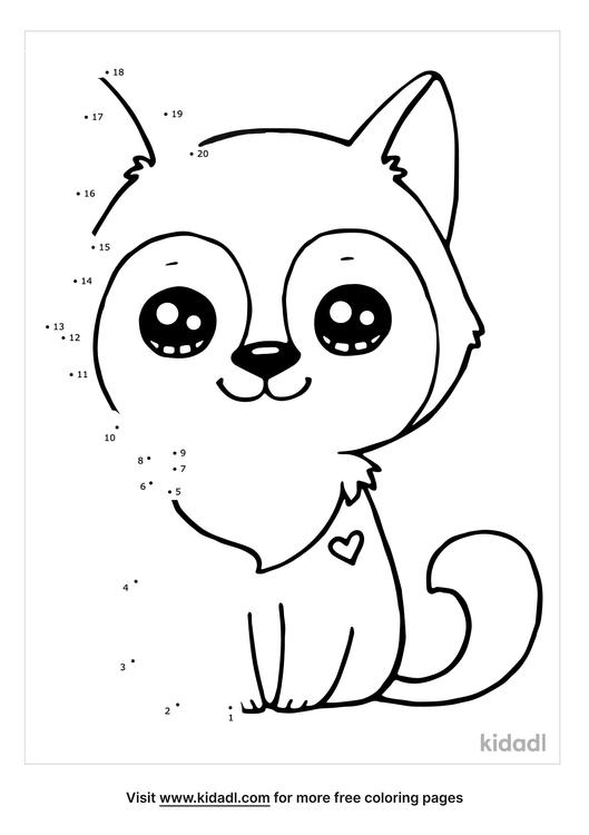 husky-dot-to-dot