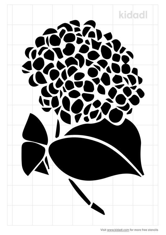 hydrangea-stencil
