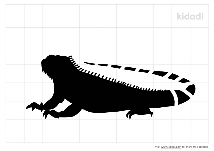 iguana-stencil