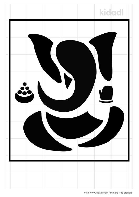 india-elephant-god-wall-stencil