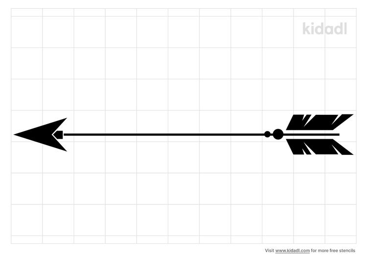 indian-arrow-stencil