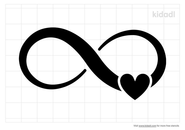 infinity-love-stencil