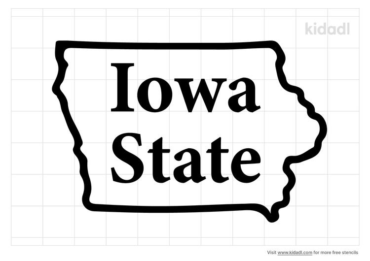 iowa-state-stencil