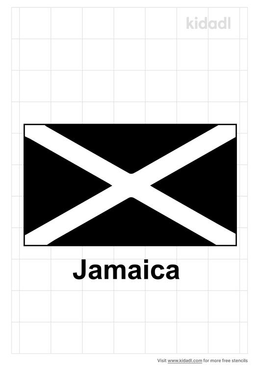 jamaica-flag-stencil