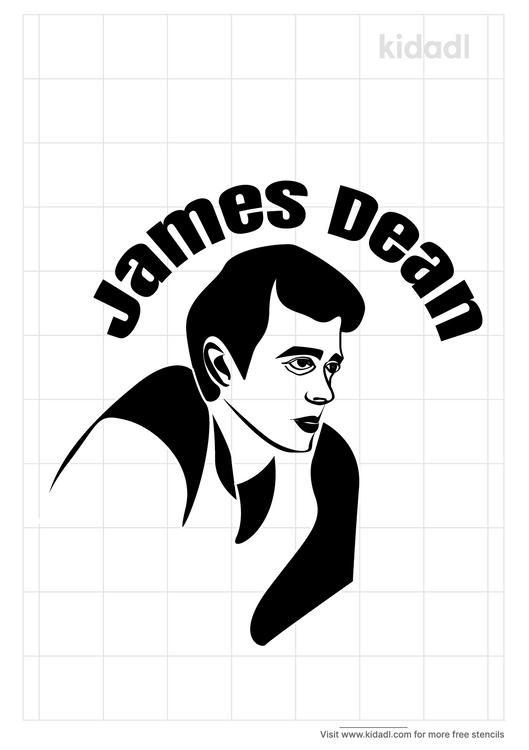 james-dean-stencil
