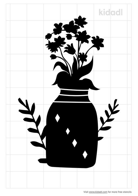 jar-with-flowers-stencil