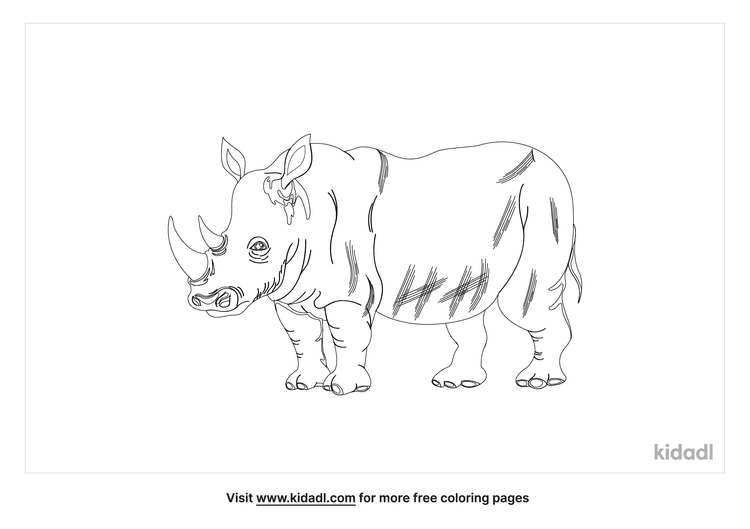 javan-rhinoceros-coloring-page