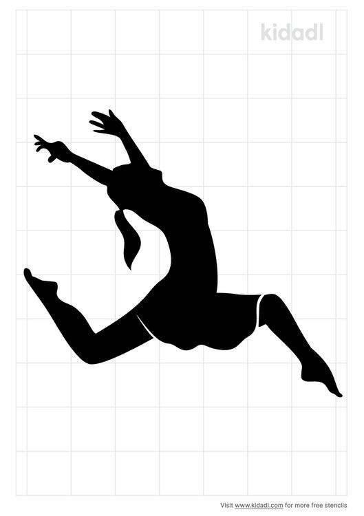 jazz-dancer-stencil