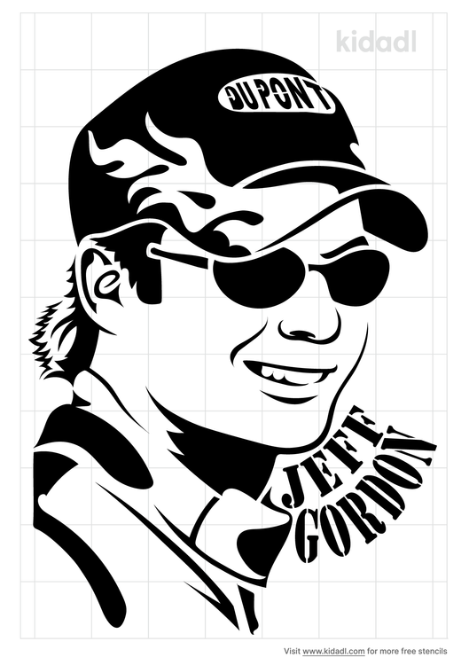 jeff-gordon-stencil