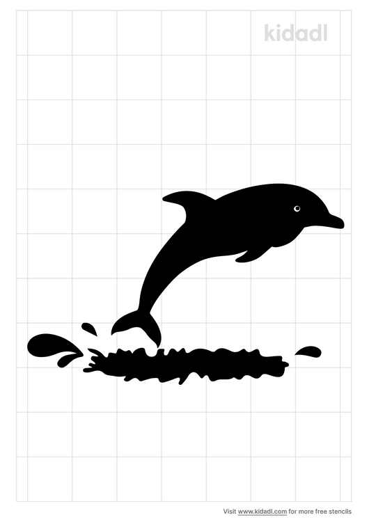 jumping-dolphins-stencil
