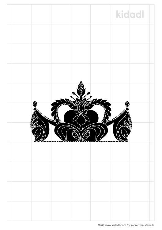 kids-tiara-stencil