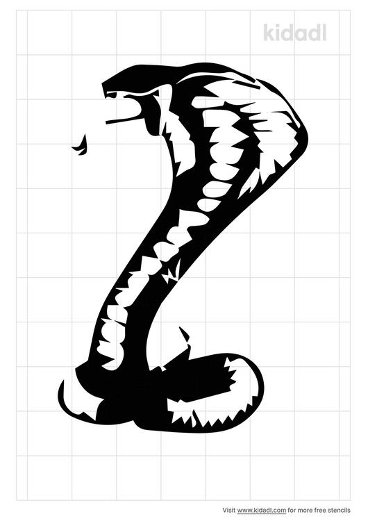 king-cobra-stencil