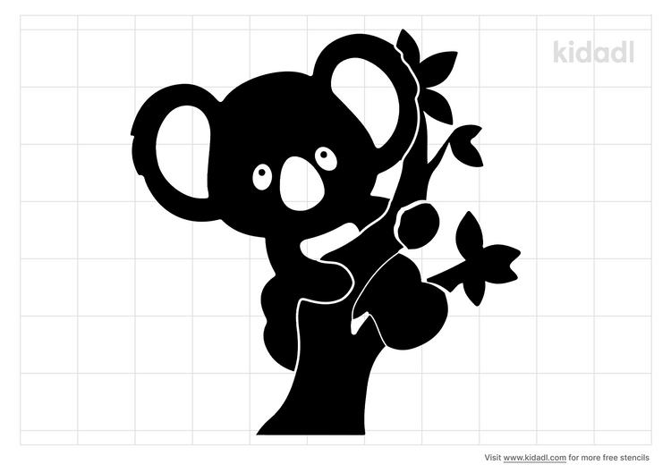 koala-baby-shower-stencil