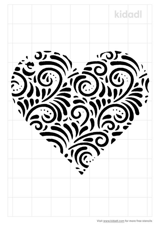 lace-heart-stencil