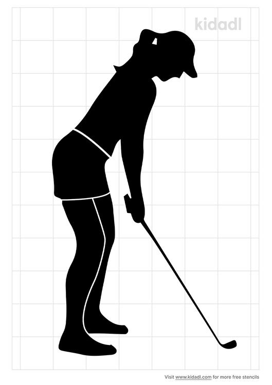 lady-golfer-stencil