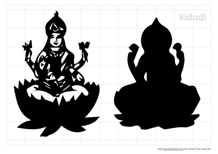 lakshmi-stencil