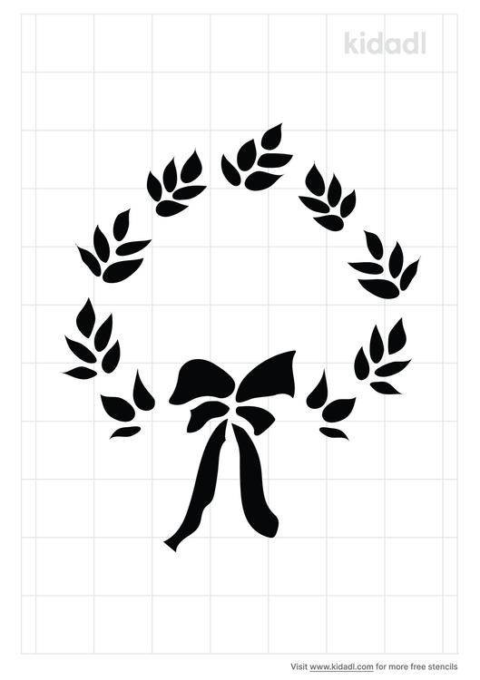 laurel-wreath-stencil