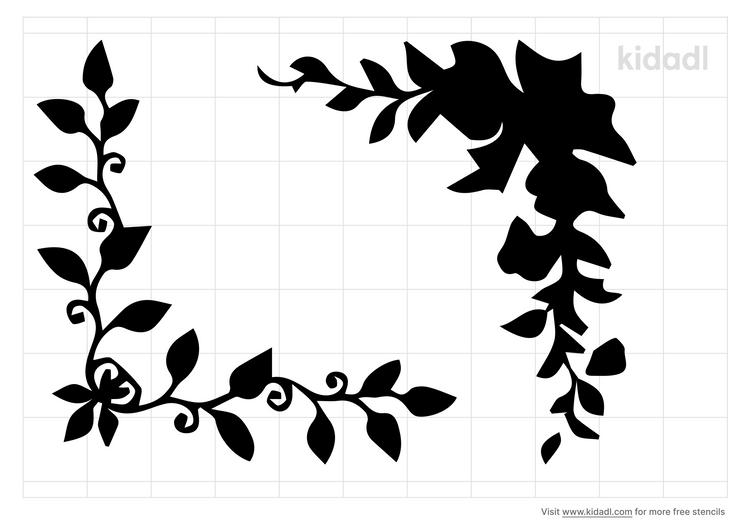leaf-corner-stencil