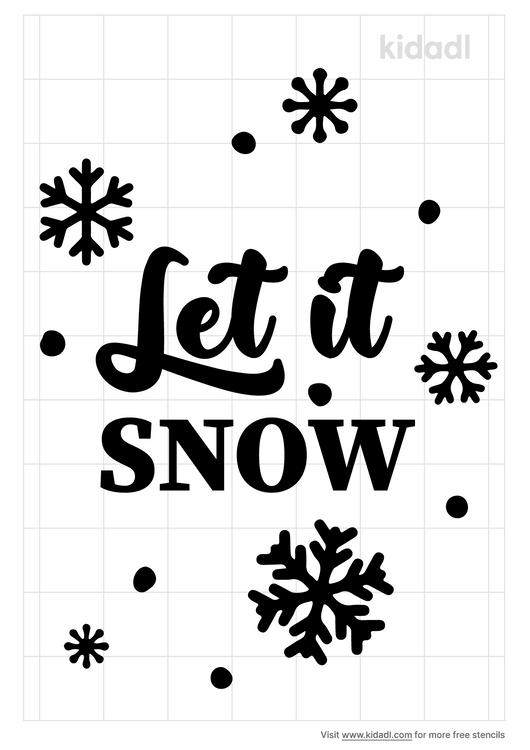 let-it-snow-stencil