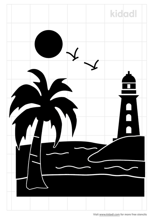 lighthouse-beach-stencil