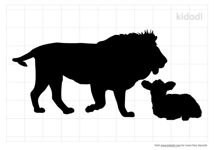 lion-and-lamb-stencil