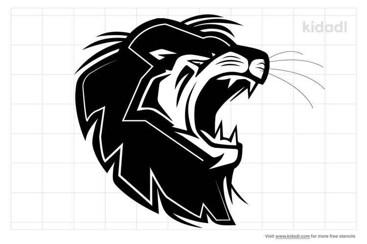 lion-mouth-stencil