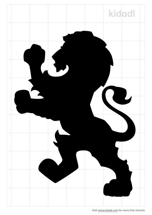 lion-standing-up-stencil