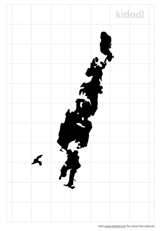 little-sebago-lake-map-stencil