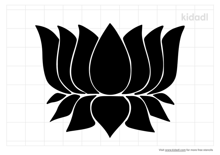 lotus-stencil