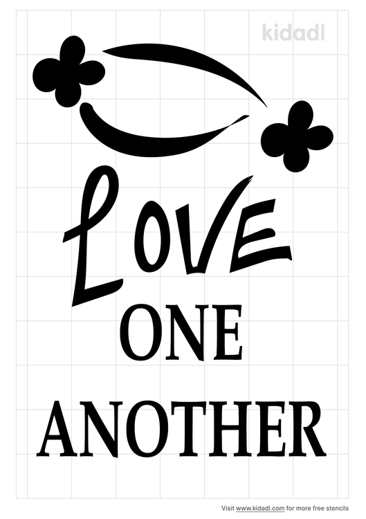 love-one-another-stencil