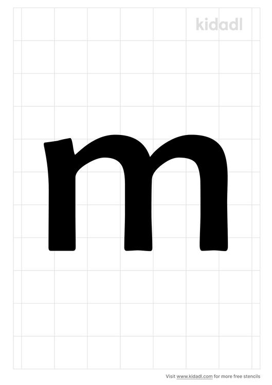 lowercase-m-stencil