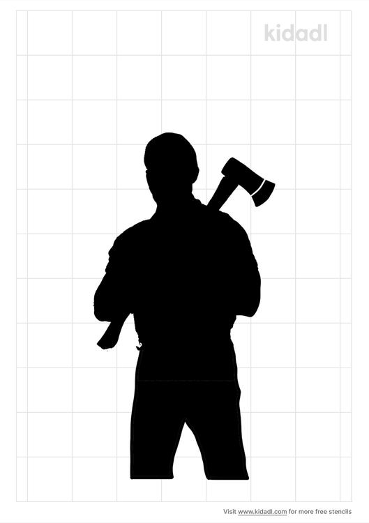 lumberjack-stencil